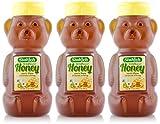 Stakich HONEY BEAR 12 oz (3 Pack) - 100% Pure Wildflower, All Natural, KOSHER -