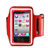 Armband for iPhone X 8/8plus/7/6/6S Plus,Galaxy s8 s7 s6 Edge s8+,Note 5.etc.CaseHQ Adjustable Reflective Sport Exercise Running Pouch Key Holder,Screen Protector-Hiking,Biking,Walking(red)