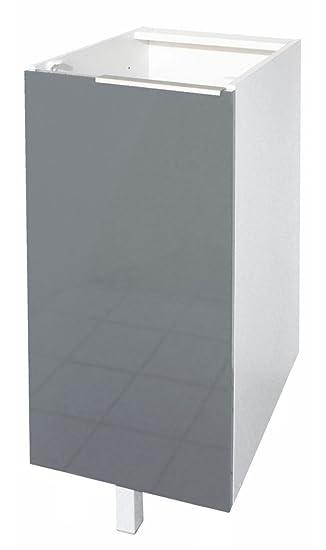 Berlenus CP3BG Küchen-Unterschrank, 1 graue Hochglanz-Tür, 30 cm ... | {Küchen unterschrank ecke 40}
