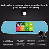 KOBWA-Dual-Lens-Dash-Cam-5-Inch-1080P-HD-Car-CameraAndroid-GPS-Navigation-Bluetooth-WiFi-Car-Video-Recorder-for-Vehicles-Rearview-MirrorRearview-Camera-Parking-Monitor
