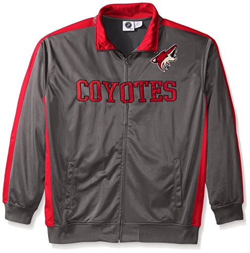 - NHL Phoenix Coyotes Men's Tricot Track Jacket, 4X Tall, Charcoal