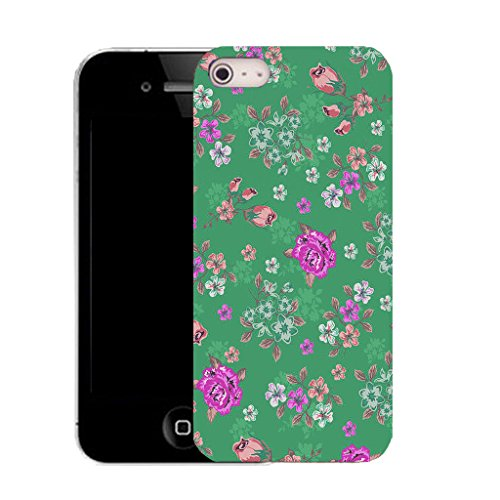 Mobile Case Mate IPhone 4 clip on Silicone Coque couverture case cover Pare-chocs + STYLET - floral culmination pattern (SILICON)
