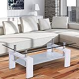 Conception Table Basse Verre 110x60cm BRILLANT