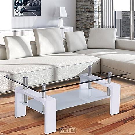 Corium® Tavolino da salotto Tavolino per il divano (100 x 50 x 58 cm ...
