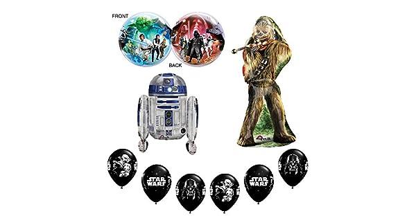 Amazon.com: Star Wars Deluxe Feliz cumpleaños Globos ...