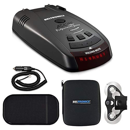 Beltronics RX65 Red Professional Series Radar/Laser Detector with Car Mat Bundle