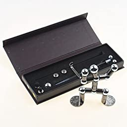 Magnetic Modular touch pen with 12 steel balls Silver