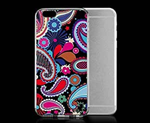 Light weight with strong PC plastic case for iphone 5c Patterns Patterns Black Paisley