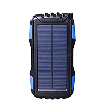 YFQH Batería solar-25000mAh energía móvil Solar 2.1A USB de ...