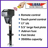 3500lbs Trailer/RV Electric Power A-Frame Tongue Jack with Remote Control & Touch Panel 26034