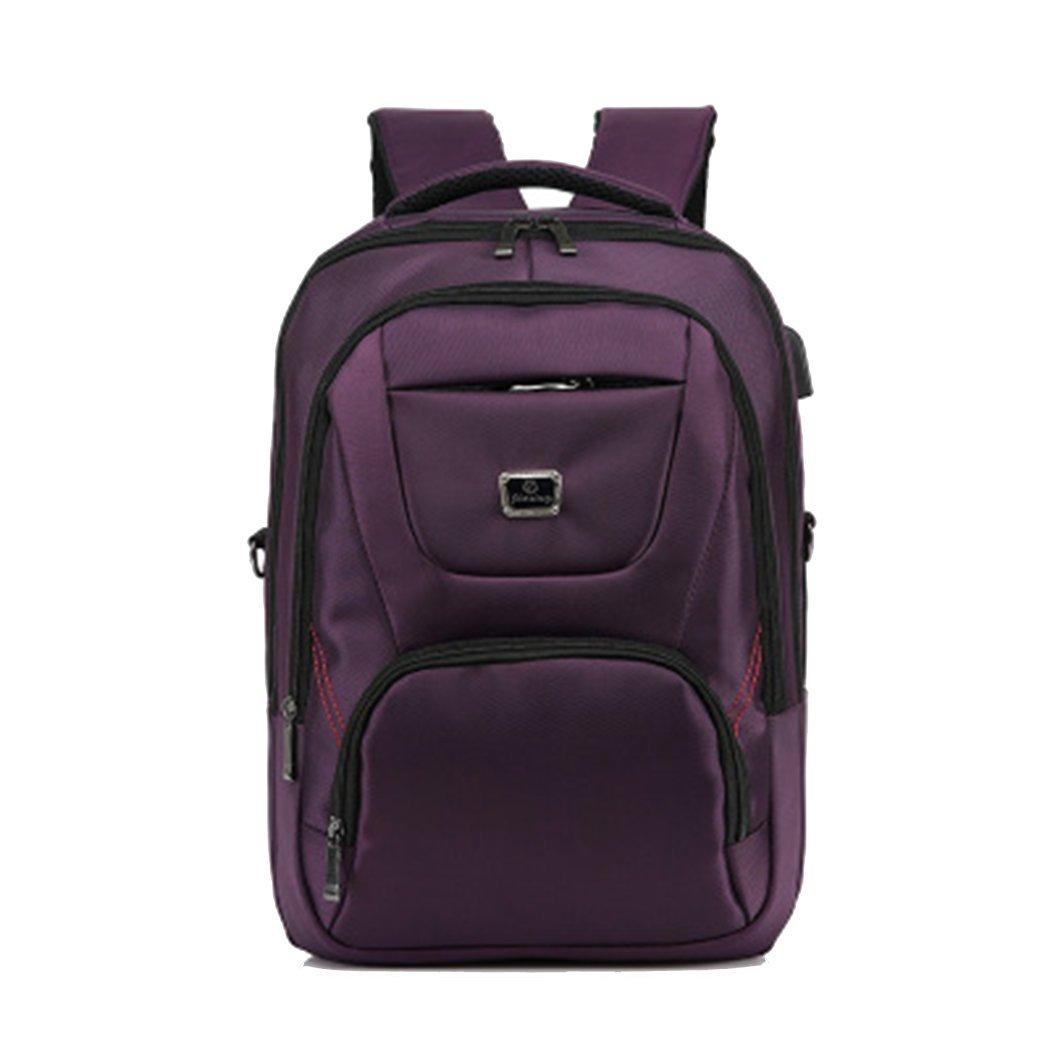 USBスマートバックパック メンズ バックパック 旅行 レジャー ビジネス コンピュータバッグ ユニセックス 多機能 大容量 高校生バッグ One Size パープル B07G37T4MT