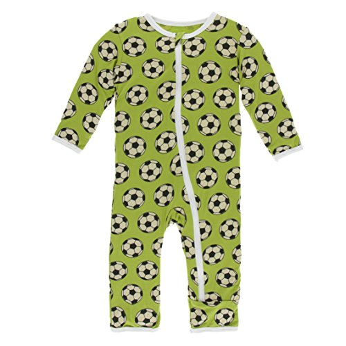 Kickee Pants Little Boys Print Coverall With Zipper - Meadow Soccer, 9-12 Months -