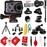 Veho Muvi K-Series K-2 NPNG 1080p 16MP HD WiFi Waterproof Action Camera with 32GB + Monopod + Stabilizing Hand Grip + Chargers + Floating Grip + Head Strap + Flexible + Tripod Mount VCC-006-K2NPNG