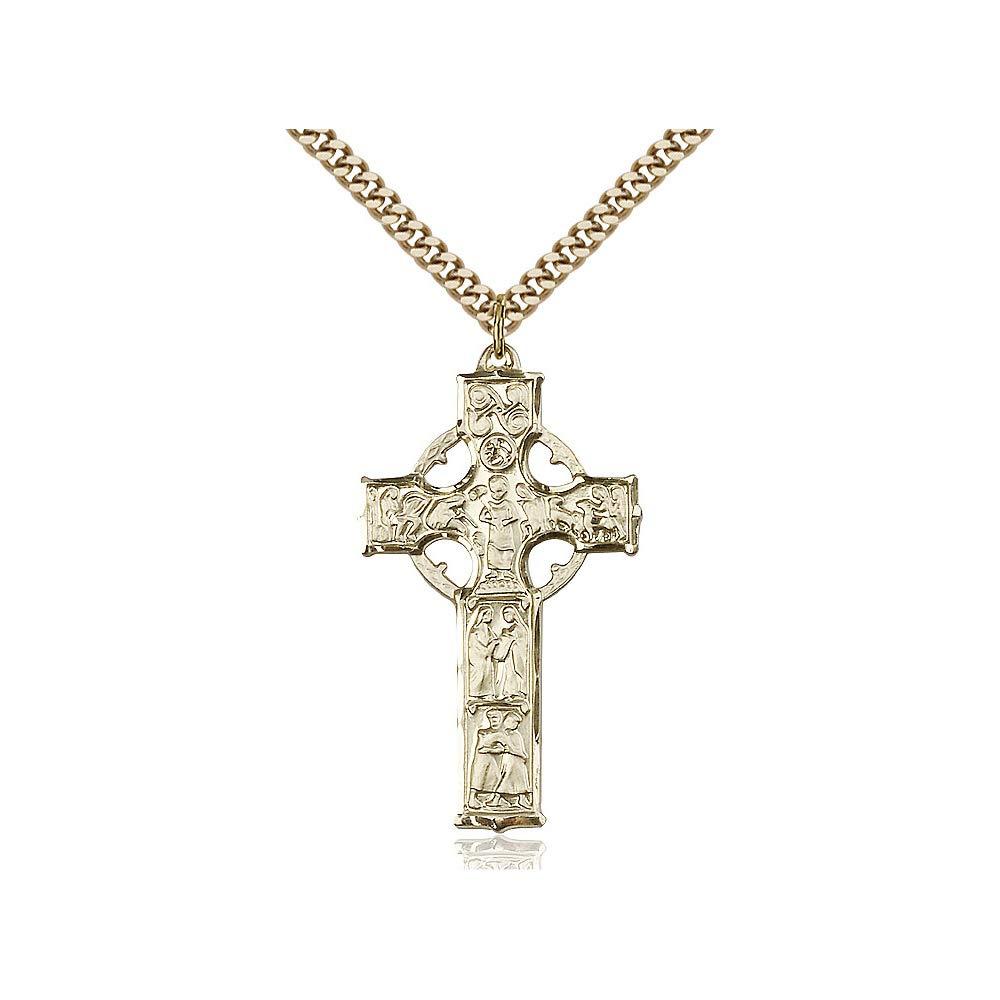 DiamondJewelryNY 14kt Gold Filled Celtic Cross Pendant