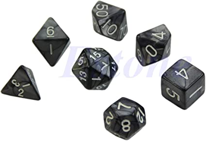 7-Dice Sided D4 D8 D6 D10 D12 D20 Magic-the-Gathering D/&D RPG Poly Game Set Blue
