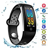 Fitness Tracker Smartwatches Q6,IP68 Waterproof Activity Tracker with Heart Rate Blood Pressure Calorie Counter Pedometer for for Men, Women,and Kids