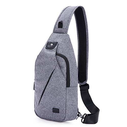 TINYAT Sling Bag Pack, Chest Shoulder Crossbody Hiking Backpack Sport Bicycle Rucksack School Daypack for Men Women T609 ()