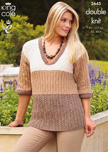 Amazon King Cole Ladies Cardigan Sweater Baby Alpaca Knitting