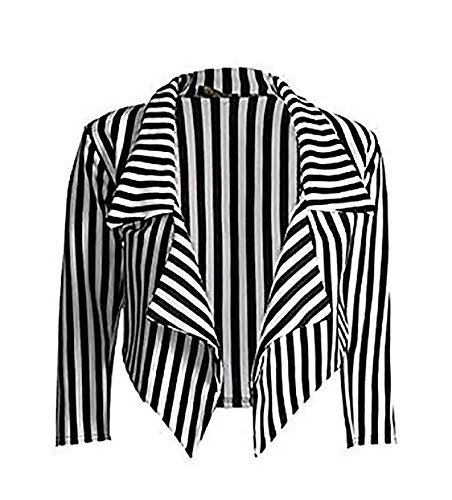 Black And White Striped Jacket - 6