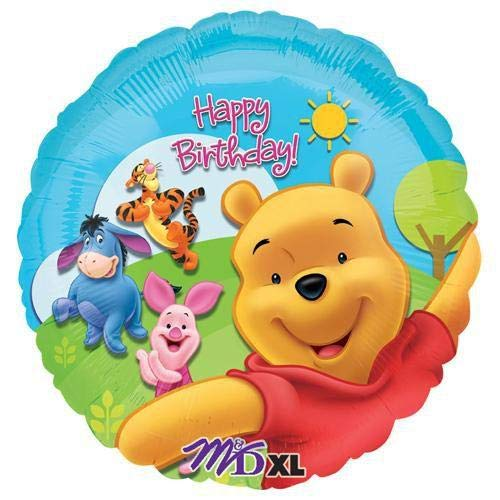 Anagram 15749 Pooh /& Friends Sunny Birthday Foil Balloon Multicolored 18