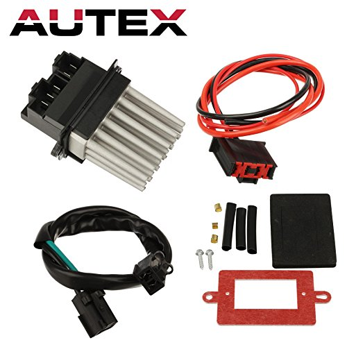 AUTEX HVAC Blower Motor Resistor Module Kit RU-358 5012699AA 3A1102 Replacement for 1999 2000 2001 2002 2003 2004 Jeep Grand Cherokee Automatic Temperature Control