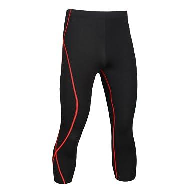 wenyujh Homme Pantalon Capris de Sport Séchage Rapide Respirant Pantalon  Collant Streche Elastique Sportswear Fashion Fitness b8b5c90154c