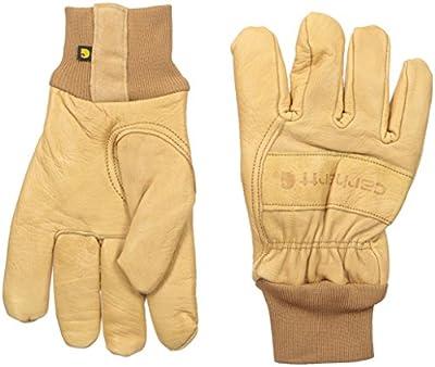 Carhartt Men's Insulated Leather Gunn Cut (Knit Cuff)
