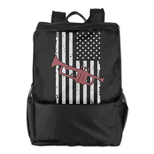 SHUAIS The American Flag TUBA School Travel Laptop Shoulders Backpack Bag