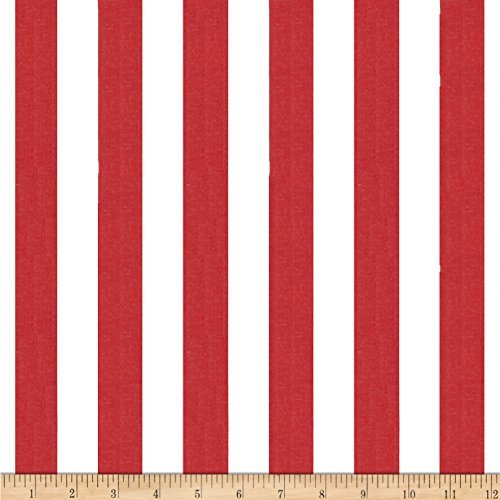 (Richland Textiles 1 in. Stripe Red/White Fabric by The Yard,)