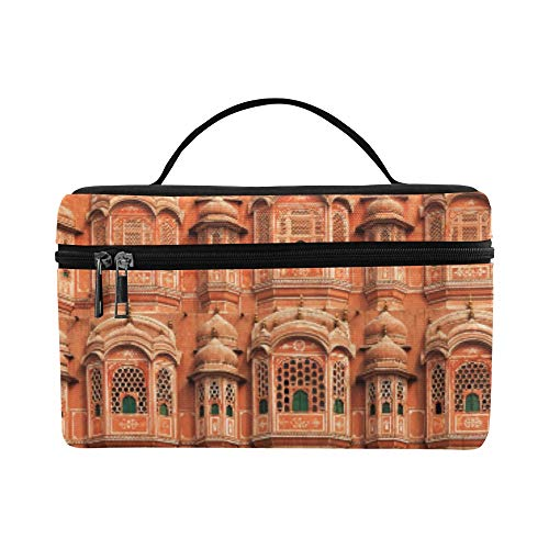 Facade Of Hawa Mahal Palace In Jaipur Rajasthan Pattern Lunch Box Tote Bag Lunch Holder Insulated Lunch Cooler Bag For Women/men/picnic/boating/beach/fishing/school/work