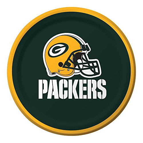 Creative Converting Officially Licensed NFL Dessert Paper Plates, 96-Count, Green Bay Packers -