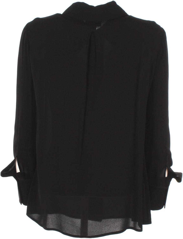 Elisabetta Franchi Camicia Donna 46 Nero Ca24501e2 1//20 Primavera Estate 2020