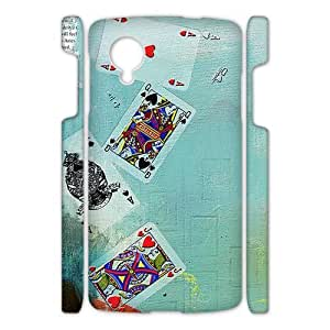 Canting_Good Ace of hearts Custom Case Shell Skin for Google Nexus 5 3D