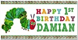 The Very Hungry Caterpillar Birthday Banner Personalized Party Decoration