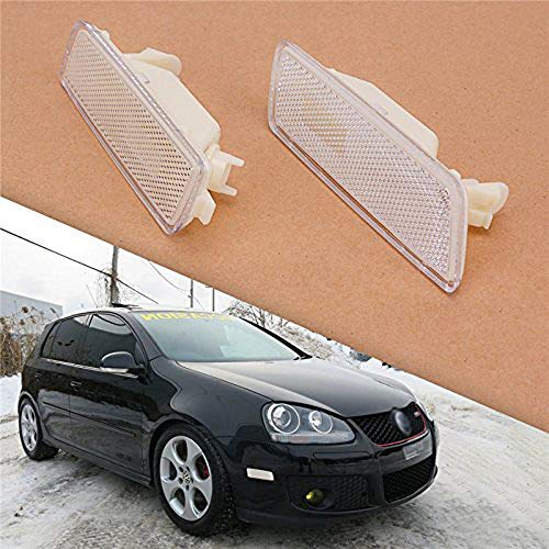 - Heart Horse Turn Signal Lamp Front Side Marker Lights for VW Golf 5 GTI Jetta MK5 2005-2009 1K5945071A 1K5945072A