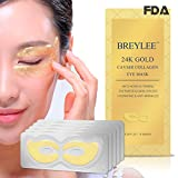#3: Collagen Eye Mask 24K Gold Eye Pads for Dark Circles, Puffiness Eye Treatment Pads Natural Under Eye Patches with Anti-aging and Wrinkle Care Properties , Eye Care Mask Gift for Women&Men (10 pairs)