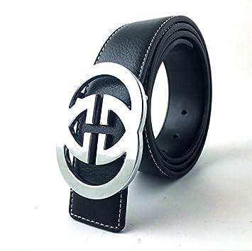 162d5e5bb63e7 Mens Silver GG Gucci Belt Fashion Luxury 100% Genuine leather For sizes  30-32