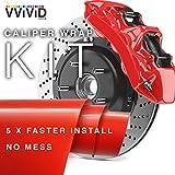 VViViD Enamel Paint Wrap High Temperature Vinyl Film For Calipers (Red)