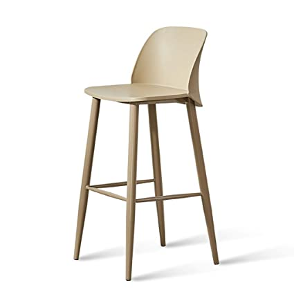 Charmant Amazon.com: Onvk Square Bar High Chair Back Stool Counter Height Indoor  Modern Dining Chair Home Kitchen Cafe (Color : Khaki): Kitchen U0026 Dining