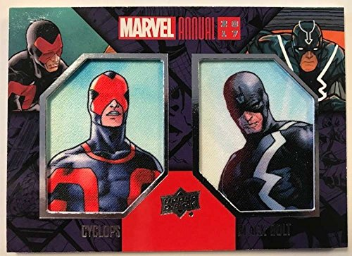 2018 Upper Deck Marvel Annual Dual Comic Patches #DCP-1 Cyclops/Black Bolt Marvel Trading Card