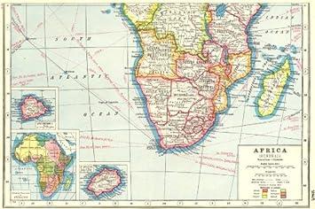 Karte Afrika Kolonien.Amazon De Einsatz Sudliches Afrika Ascension Liegt
