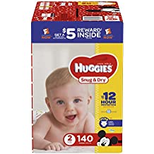 HUGGIES Snug & Dry Diapers, Size 2, 140 Count (Packaging May Vary)