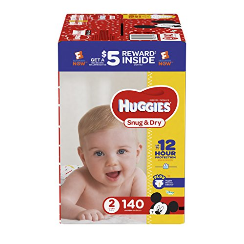 HUGGIES Snug & Dry Diapers, Super Pack,