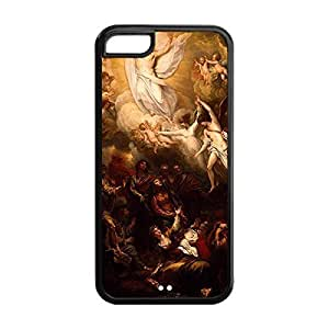 Diy design iphone 6 (4.7) case, Custom DIY babies Virgin Mary Christian and Child Baby Jesus In Durable TPU Back Case for iPhone a5 5S (Black 020302) with