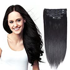 """Remy Human Hair Extensions Clip in 18"""" 70gram"""