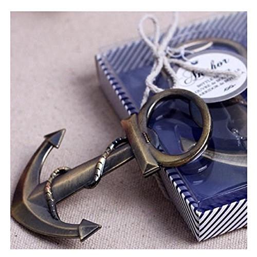 Edtoy Ocean Sailing Boat Nautical Anchor Bottle Opener Shower Wedding Party Favor Gift - Nautical Bottle Opener