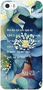 Case for Iphone 5s Bible Quotes Theme,Apple Iphone 5 Case Christian Quotes Inspirational About Life From Songs Isaiah 40:31