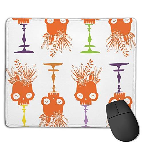 (Tidy Skulls Pumpkin Computers Thick Keyboard Non-Slip Rubber Base Mouse pad Mat 7 X 8.6)