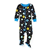 The Children's Place Baby Space Themed Stretchie Pajamas, Black 90870, 6-9MONTHS
