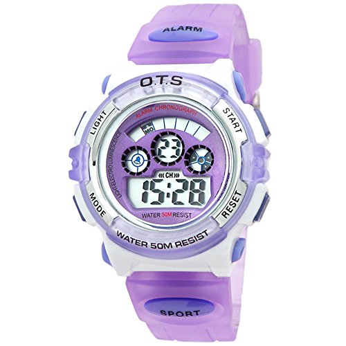 Yavinet Outdoor Digital Sport Waterproof Alarm Kids Watch for Girls by Yavinet